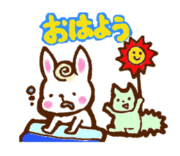 rabit  and cat sticker sticker #5800328