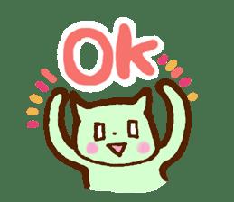 rabit  and cat sticker sticker #5800334