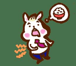 rabit  and cat sticker sticker #5800338