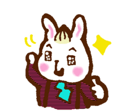 rabit  and cat sticker sticker #5800340