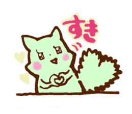 rabit  and cat sticker sticker #5800341