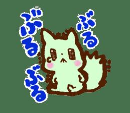 rabit  and cat sticker sticker #5800344