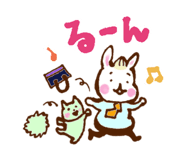 rabit  and cat sticker sticker #5800356