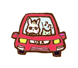 rabit  and cat sticker sticker #5800360