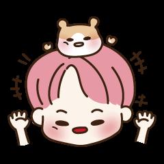pink hair boy 'shushu'