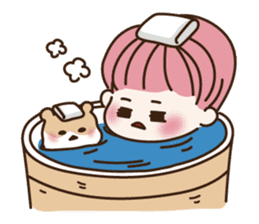 pink hair boy 'shushu' sticker #5801124