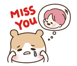 pink hair boy 'shushu' sticker #5801143