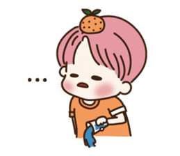 pink hair boy 'shushu' sticker #5801144