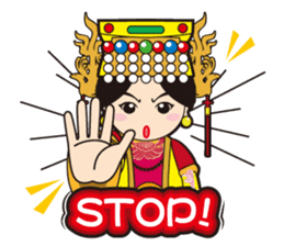 Lukang Q Mazu anytime paste sticker #5808237