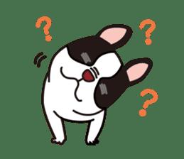 French Bulldog BOO (pied) sticker #5808498