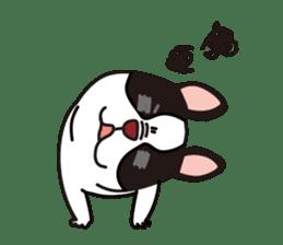 French Bulldog BOO (pied) sticker #5808499