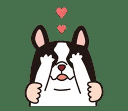 French Bulldog BOO (pied) sticker #5808510