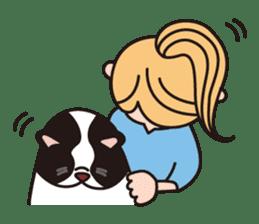 French Bulldog BOO (pied) sticker #5808511