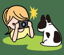 French Bulldog BOO (pied) sticker #5808516