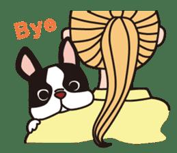French Bulldog BOO (pied) sticker #5808523