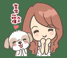 Sarah & King (Lovely Shih Tzu) sticker #5814849