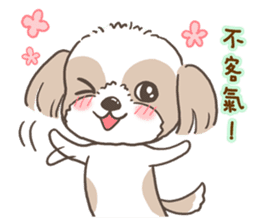 Sarah & King (Lovely Shih Tzu) sticker #5814850