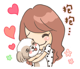 Sarah & King (Lovely Shih Tzu) sticker #5814857