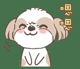 Sarah & King (Lovely Shih Tzu) sticker #5814859