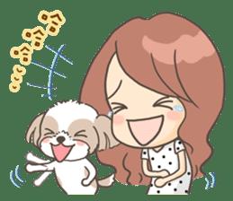 Sarah & King (Lovely Shih Tzu) sticker #5814861