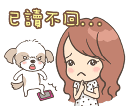 Sarah & King (Lovely Shih Tzu) sticker #5814865