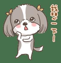 Sarah & King (Lovely Shih Tzu) sticker #5814868