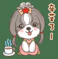 Sarah & King (Lovely Shih Tzu) sticker #5814876