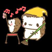 สติ๊กเกอร์ไลน์ Softly little Hedgehogs 'Hari-san' 3