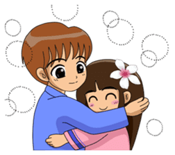 Hakka brother and sister sticker #5823514