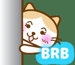 Cute kitty cats sticker #5830648