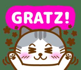Cute kitty cats sticker #5830667