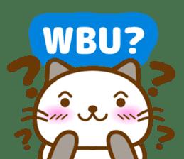 Cute kitty cats sticker #5830668