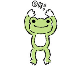 pickles the frog sticker #5833474