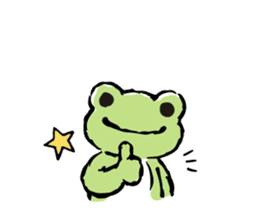 pickles the frog sticker #5833478