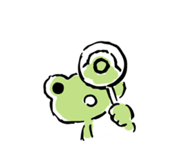 pickles the frog sticker #5833490
