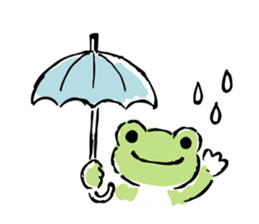 pickles the frog sticker #5833495