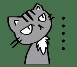 Silver tabby kitten SASUKE sticker #5836700
