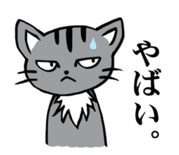 Silver tabby kitten SASUKE sticker #5836703