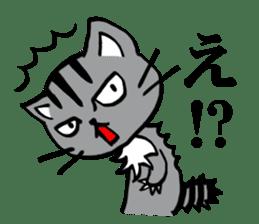 Silver tabby kitten SASUKE sticker #5836704