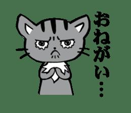 Silver tabby kitten SASUKE sticker #5836718