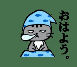 Silver tabby kitten SASUKE sticker #5836721