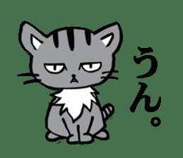 Silver tabby kitten SASUKE sticker #5836722