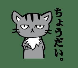 Silver tabby kitten SASUKE sticker #5836724