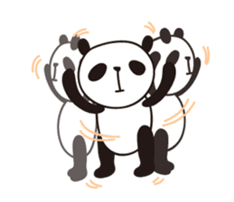 papipupe panda sticker #5837196