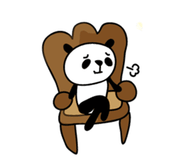 papipupe panda sticker #5837211