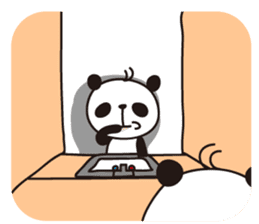 papipupe panda sticker #5837214