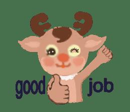 reindeer Lily is running around world sticker #5837594