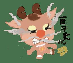 reindeer Lily is running around world sticker #5837598