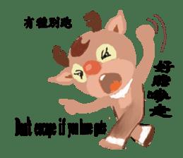 reindeer Lily is running around world sticker #5837599