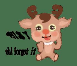 reindeer Lily is running around world sticker #5837600